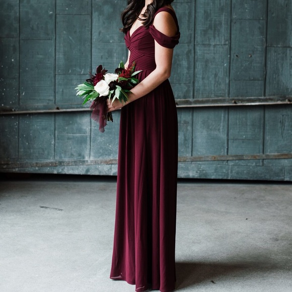 8b005198c24 Lulu s Dresses   Skirts - Lulu s Make Me Move Burgundy Bridesmaid Dress